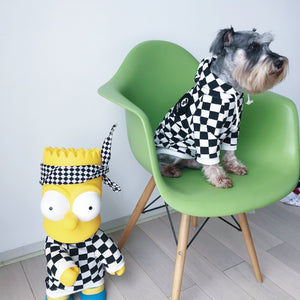 Bathing Pup Checkerboard Dog Hoodie - Supreme Paw Supply