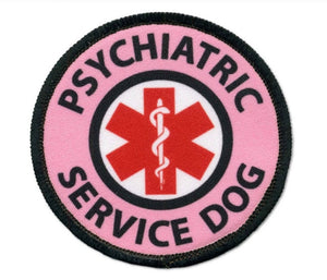 "2"" Psychiatric Service Dog Patch - Supreme Paw Supply"