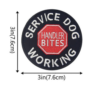 3D Embroidered Service Dog Patches - Supreme Paw Supply