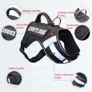 Reflective Service Dog Harness w/ Handle - Supreme Paw Supply