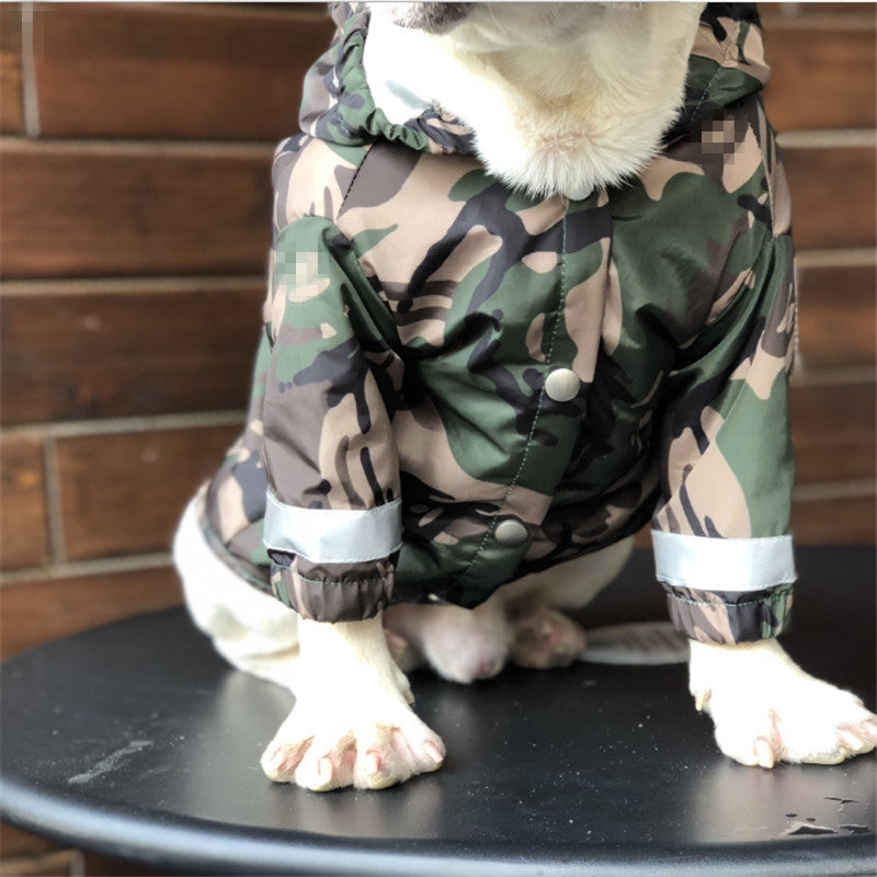 Bathing Pup Camouflage Dog Jacket - Supreme Paw Supply