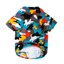 Load image into Gallery viewer, PAWZ Rainbow Camouflage Dog Tee - Supreme Paw Supply