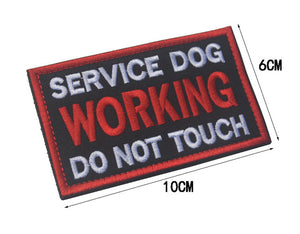"Service Dog ""Do Not Touch""/""Working Dog"" Patches - Supreme Paw Supply"