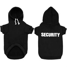 "Load image into Gallery viewer, ""SECURITY"" Dog Hoodie - Supreme Paw Supply"