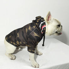 Load image into Gallery viewer, Bathing Pup Camo Shark Dog Hoodie - Supreme Paw Supply