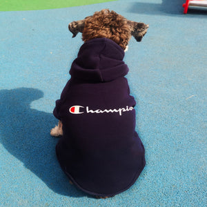 Chowpion Solid Retro Dog Hoodie - Supreme Paw Supply