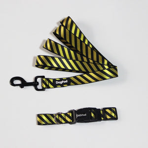 SPS Striped Dog Collar & Leash - Supreme Paw Supply