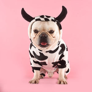 Cow Dog Hoodie - Supreme Paw Supply