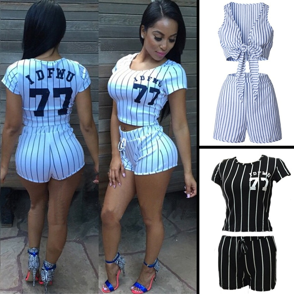 f605ccb4cb6d 2 piece set jumpsuit women sport rompers and jumpsuits sexy bodycon  overalls for women fashion striped