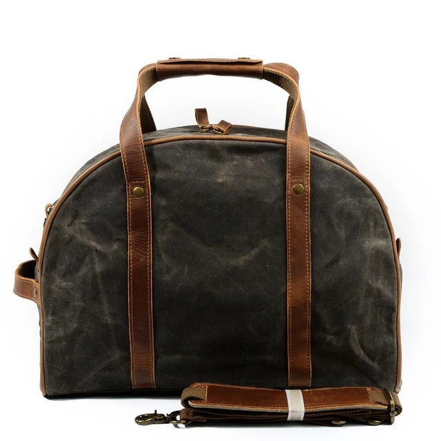 Waterproof Carry On Luggage Travel Bags Men Canvas Leather Duffle Bag Women  Travel Tote Large Capacity 32910df941944