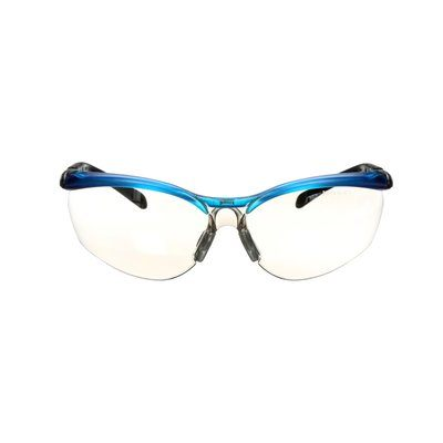 Glasses 3M 11472-00000-20 Bx Protective Eyewear 11472 indoor/Outdoor Mirror Lens Ocean Blue Frame