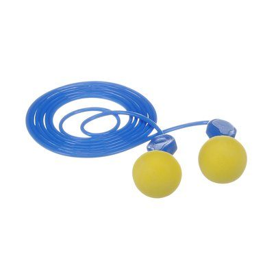 Corded Ear Plugs 3M 311-1114 E-A-R Express Pod Plugs Corded Earplugs Yellow/Blue