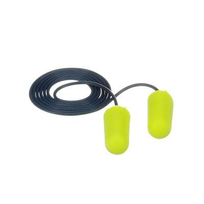 Corded Ear Plugs 3M 311-4106 E-A-Rsoft Metal Detectable Corded Earplugs Yellow