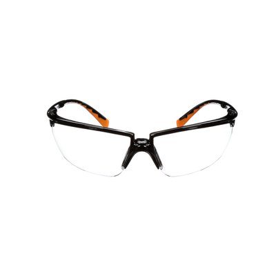 Glasses 3M 12261-00000-20 Privo Protective Eyewear 1226 Clear Anti-Fog Lens Black Frame With Orange Accents Case Of 20