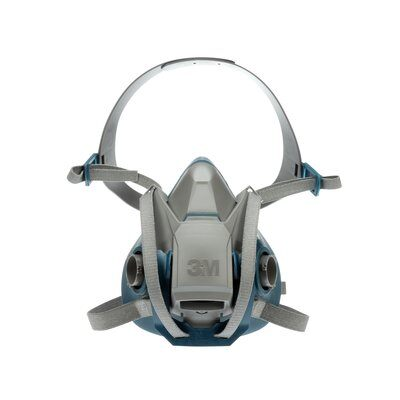 Half Face Respirator 3M 6503QL Quick Latch Rugged Comfort Half Facepiece Reusable Respirator (Large)