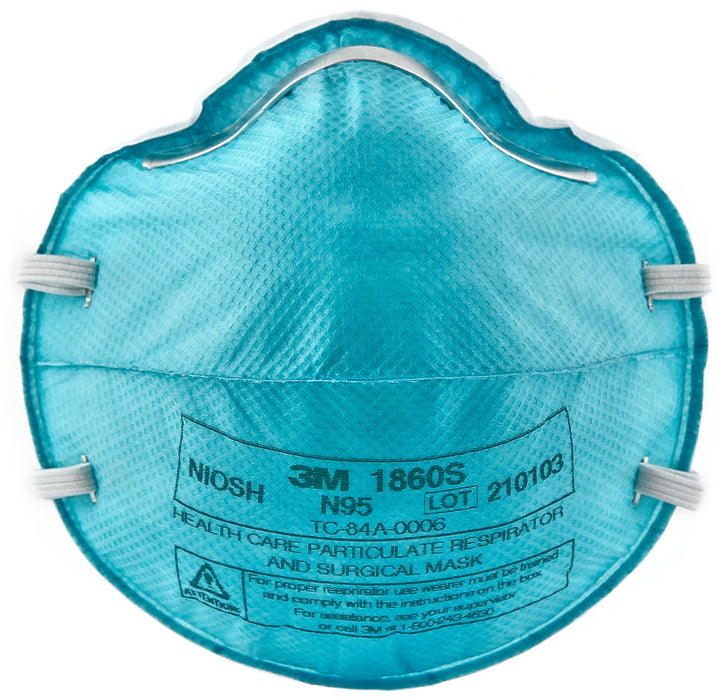 Disposable Respirators 3M 1860S N95 Particulate Healthcare Respirator Filter Facemask 1860S (Small)