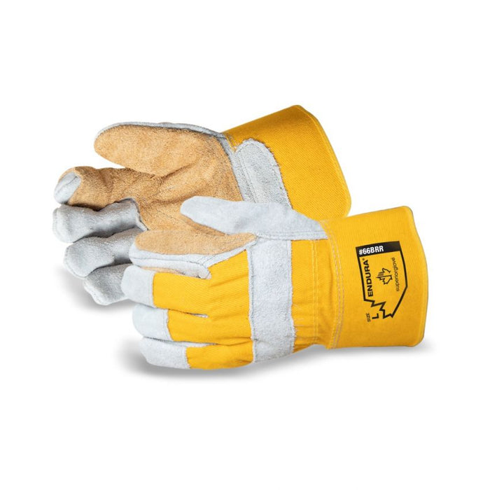 Reusable Gloves Superior Glove 66BRR Split Fitters Gloves with Double Palm and Safety Cuff (One Size)
