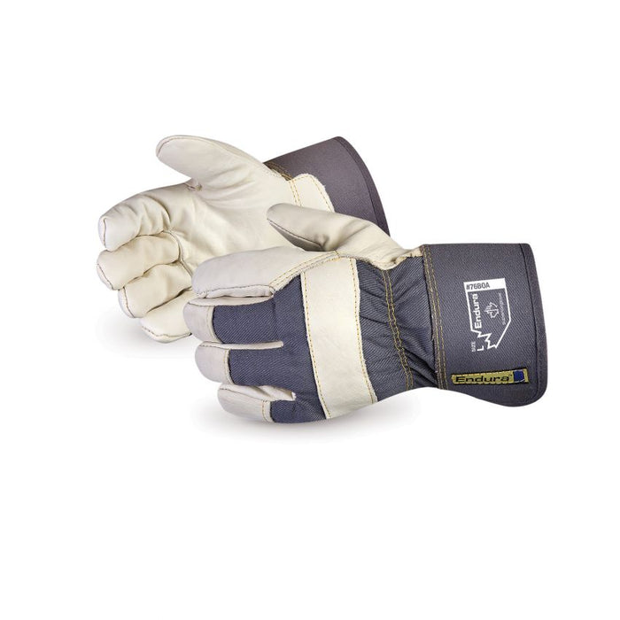 Reusable Gloves Superior Glove 76BOAXXXL Cowhide Fitters Gloves with Fully Acrylic Fleece BOA Lining (3X-Large)