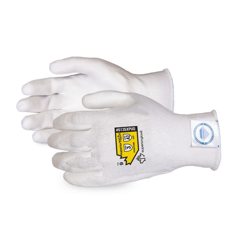 Reusable Gloves Superior Glove CS13SXPUQ8 Cleanroom Processed Polyurethane Palm-Coated Dyneema Glove (8)