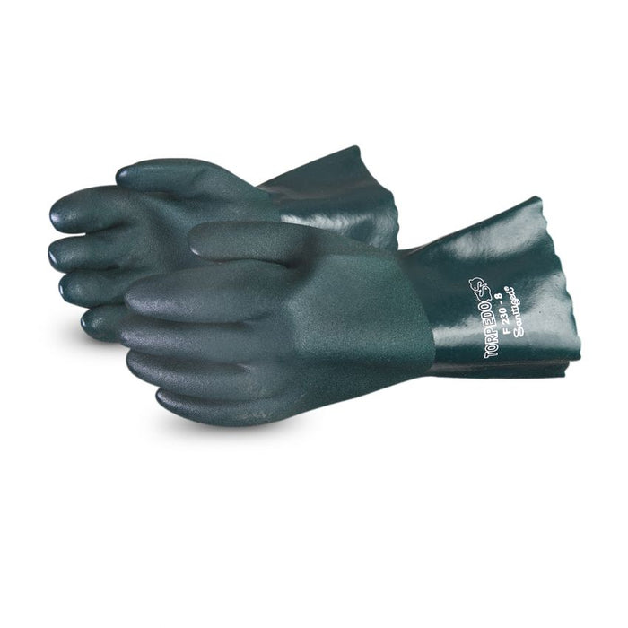 Reusable Gloves Superior Glove F230 Double Dipped PVC Glove with Fleece Lining - 12 Inches in length (One Size)