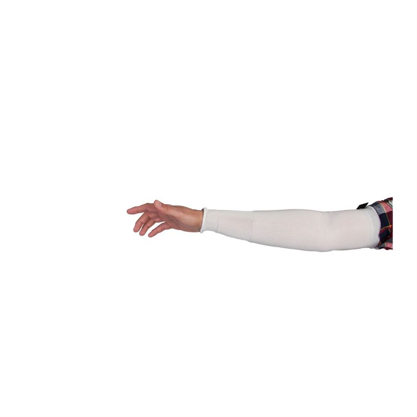 Superior Glove KN1T22/XL Cutban Cool Sleeve White 22 Inch Tapered Knit Single Layer ANSI A3 Cut