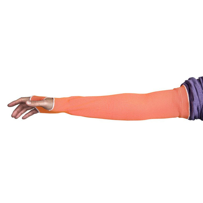 Superior Glove KOP1T22/M Hi-Viz Orange Cutban Sleeve Tapered Knit 1Ply 22 Inch ANSI A2 Cut