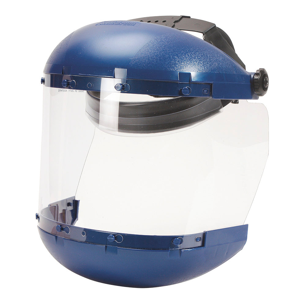 Face Shields Sellstrom S38140 Dual Crown Face Shield With Ratcheting Headgear