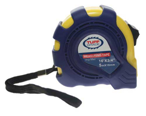 Tape Measures Tuff Grade TGTM-006 16 X 3/4 Imperial & Metric Tape Measure With Magnetic Tip