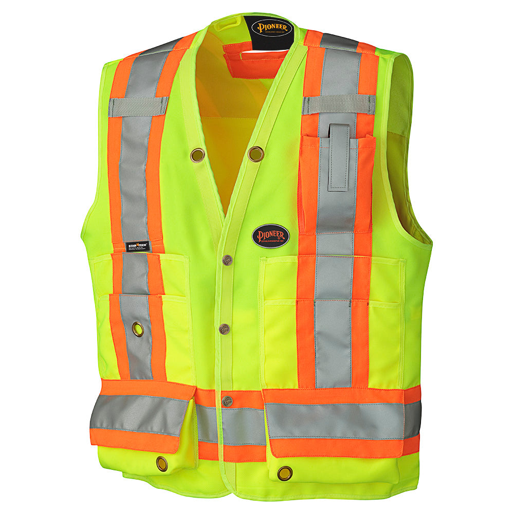 Vests Pioneer V1010140-L Hi-Viz Surveyor'S Safety Vest