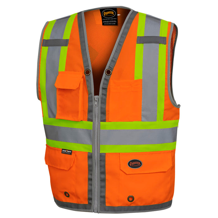 Vests Pioneer V1010250-S Mesh Back Zip Front Surveyor'S Vest