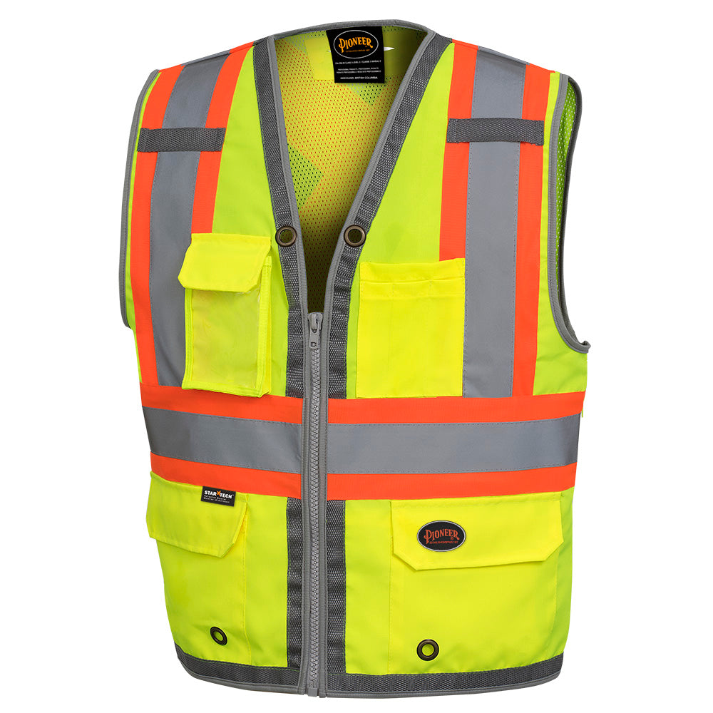 Vests Pioneer V1010260-3XL Mesh Back Zip Front Surveyor'S Vest