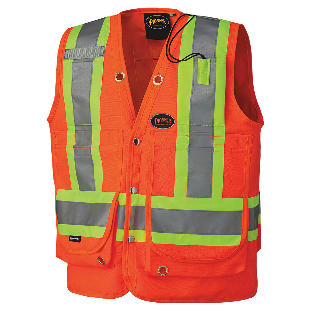 Vests Pioneer V1010350-XL Hi-Viz Surveyor'S Safety Vest