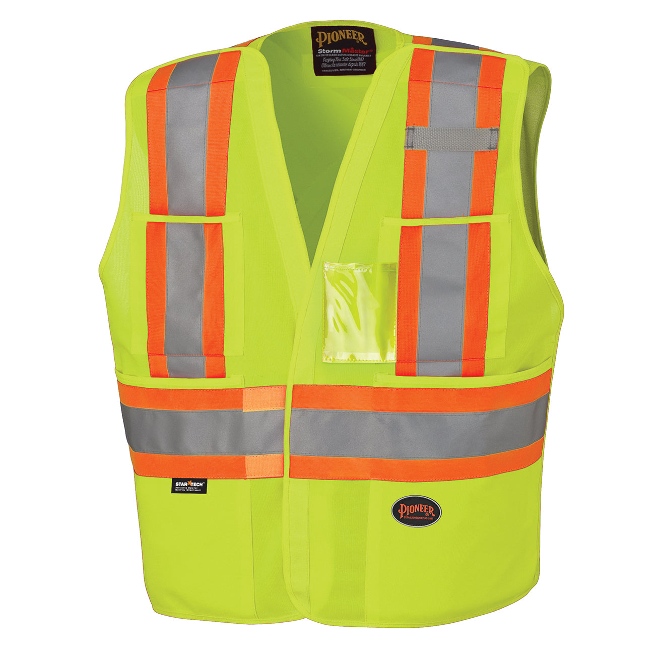 Vests Pioneer V1021061-L/XL Hi-Viz Safety Tear-Away Vest