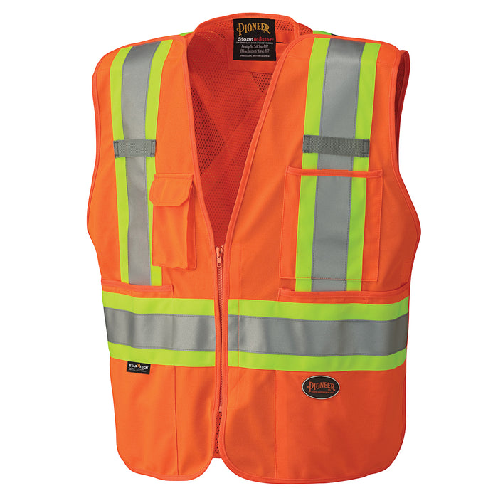 Vests Pioneer V1021150-3XL Hi-Viz Safety Tear-Away Mesh Back Vest