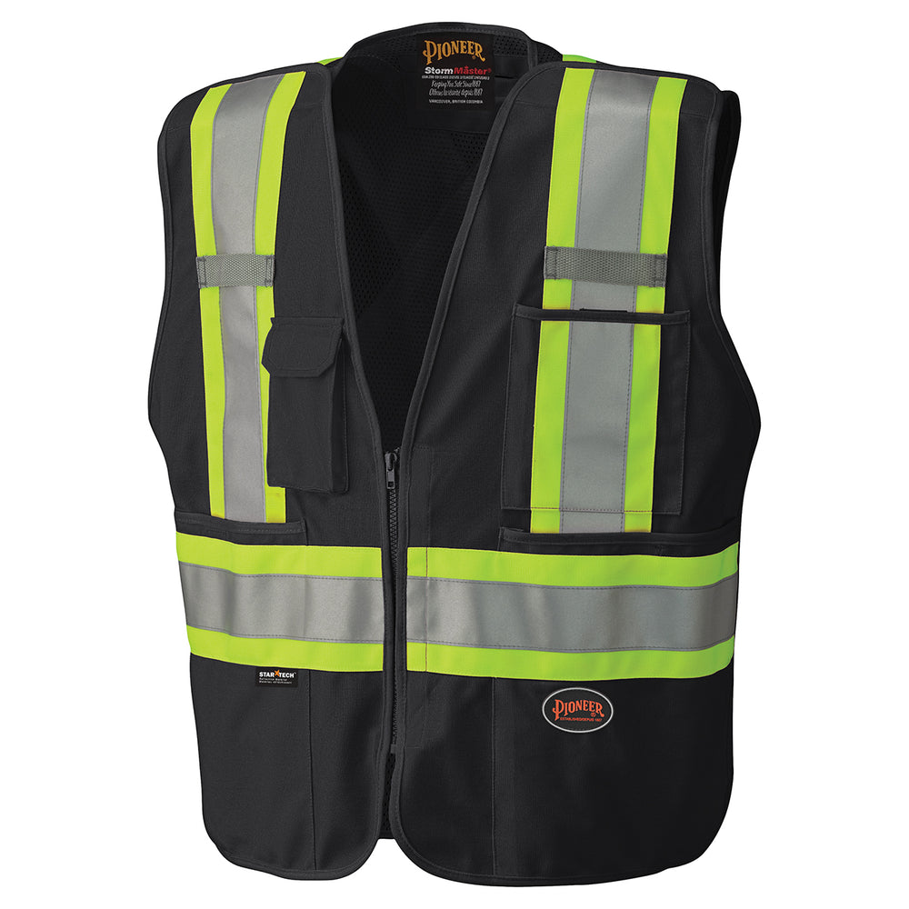 Vests Pioneer V1021170-S Hi-Viz Safety Tear-Away Mesh Back Vest
