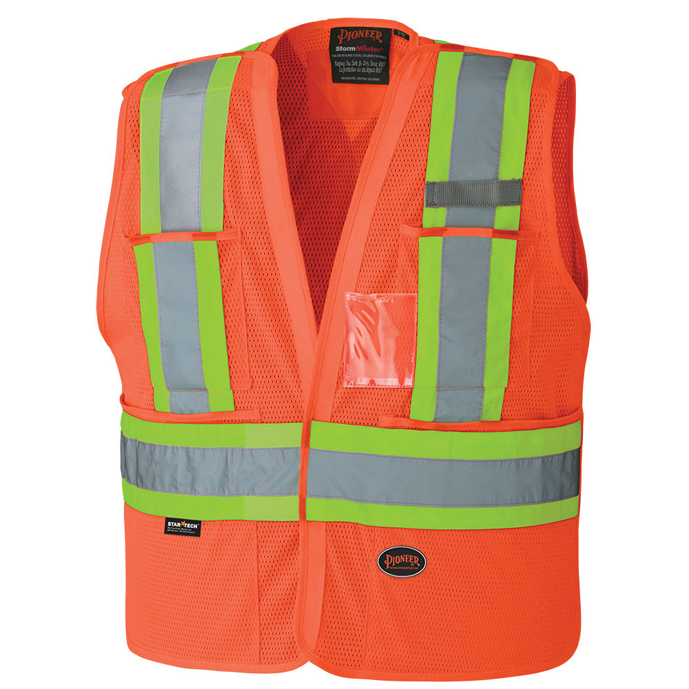 Vests Pioneer V1021450-L/XL Hi-Viz Safety Tear-Away Vest