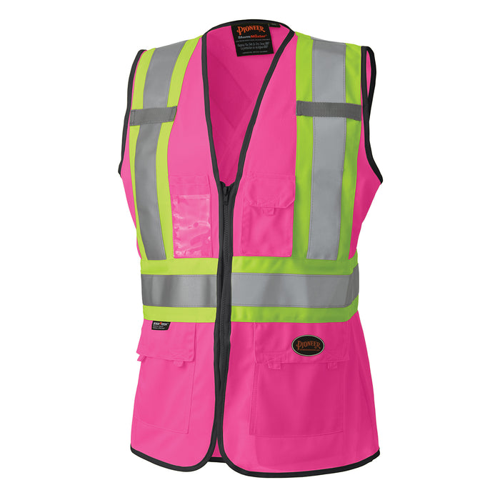 Vests Pioneer V1021840-M Hi-Viz Women'S Safety Vest