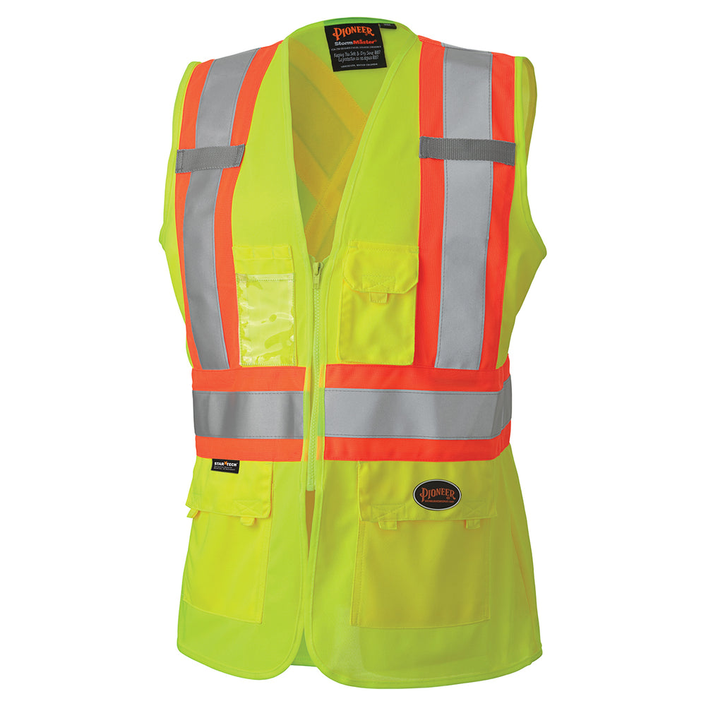 Vests Pioneer V1021860-XS Hi-Viz Women'S Safety Vest