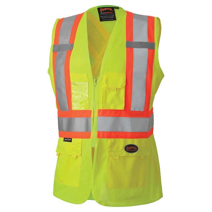 Vests Pioneer V1021860-XL Hi-Viz Women'S Safety Vest