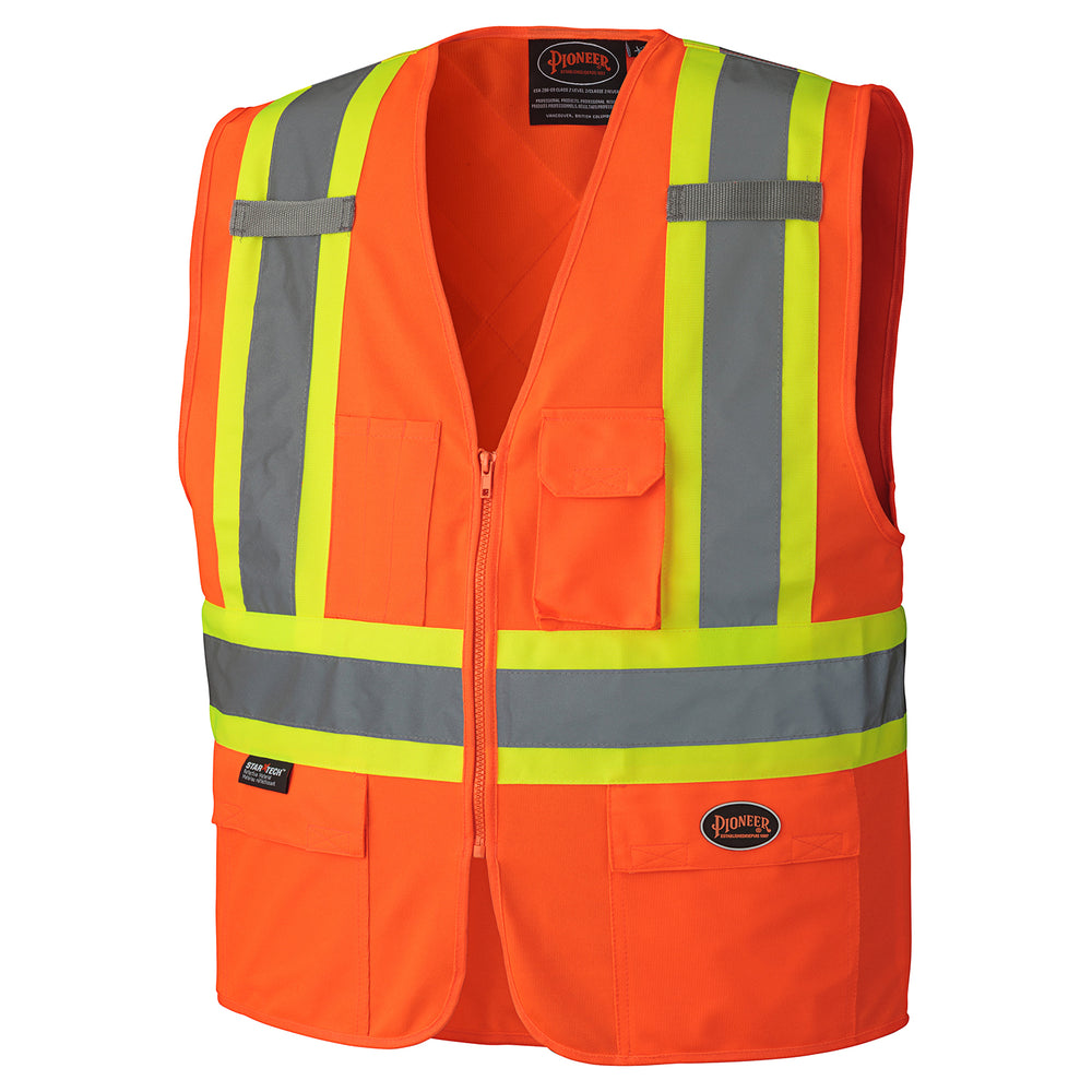 Vests Pioneer V1022150-5XL Hi-Viz Zipper Front Safety Vest