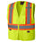 Vests Pioneer V1022160-L Hi-Viz Zipper Front Safety Vest