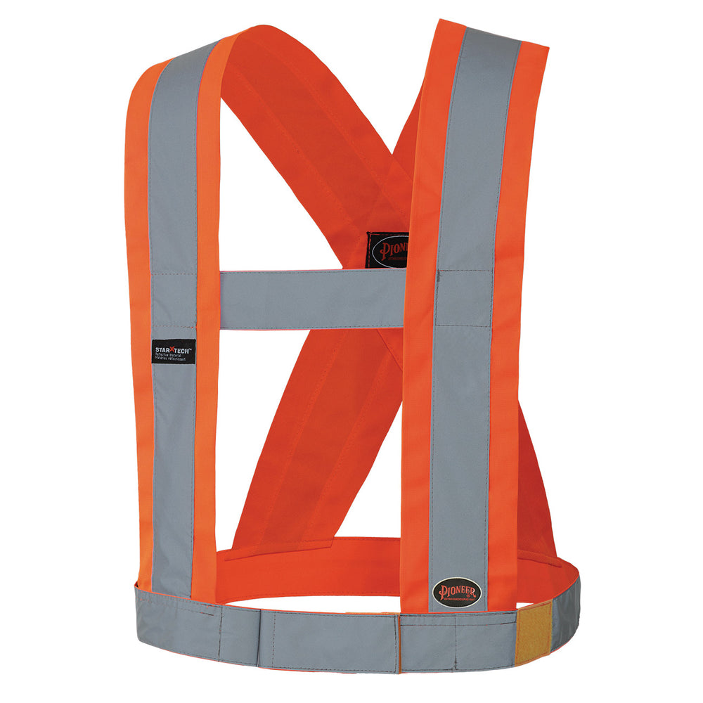 Sashes Pioneer V1040350-O/S Hi-Viz Csa 4 Inch Wide Adjustable Safety Sash