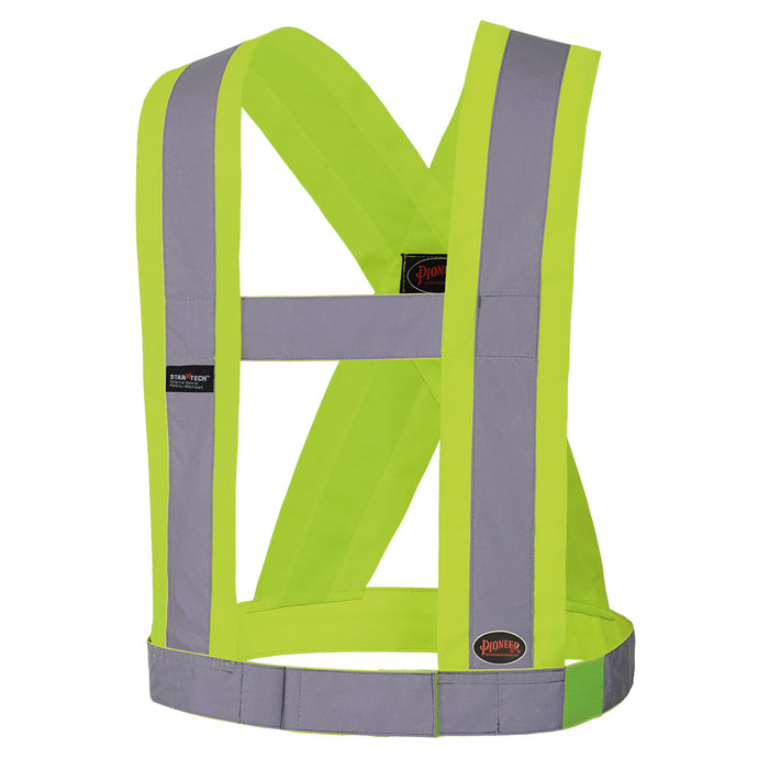 Sashes Pioneer V1040460-O/S Hi-Viz Csa 4 Inch Wide Adjustable Safety Sash
