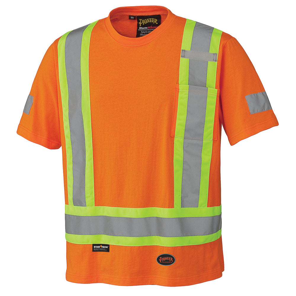 T-shirts Pioneer V1050550-L Cotton Safety T-Shirt