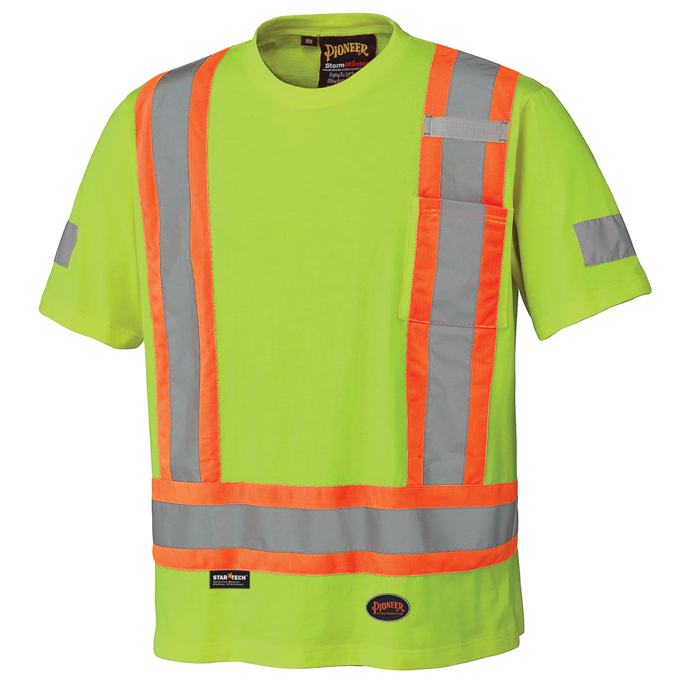 T-shirts Pioneer V1050560-S Cotton Safety T-Shirt