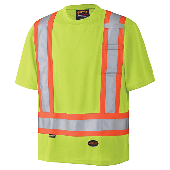 T-shirts Pioneer V1051160-S Birdseye Safety T-Shirt