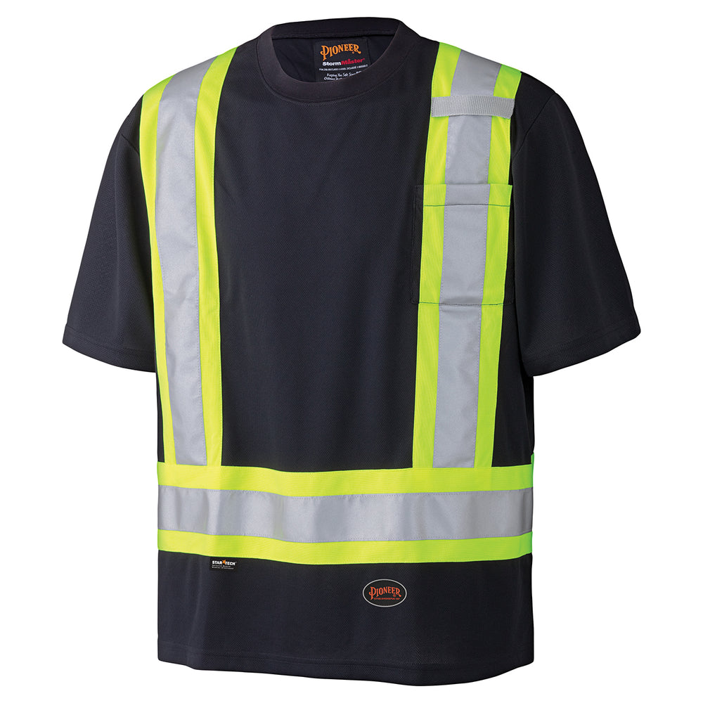 T-shirts Pioneer V1051170-L Birdseye Safety T-Shirt