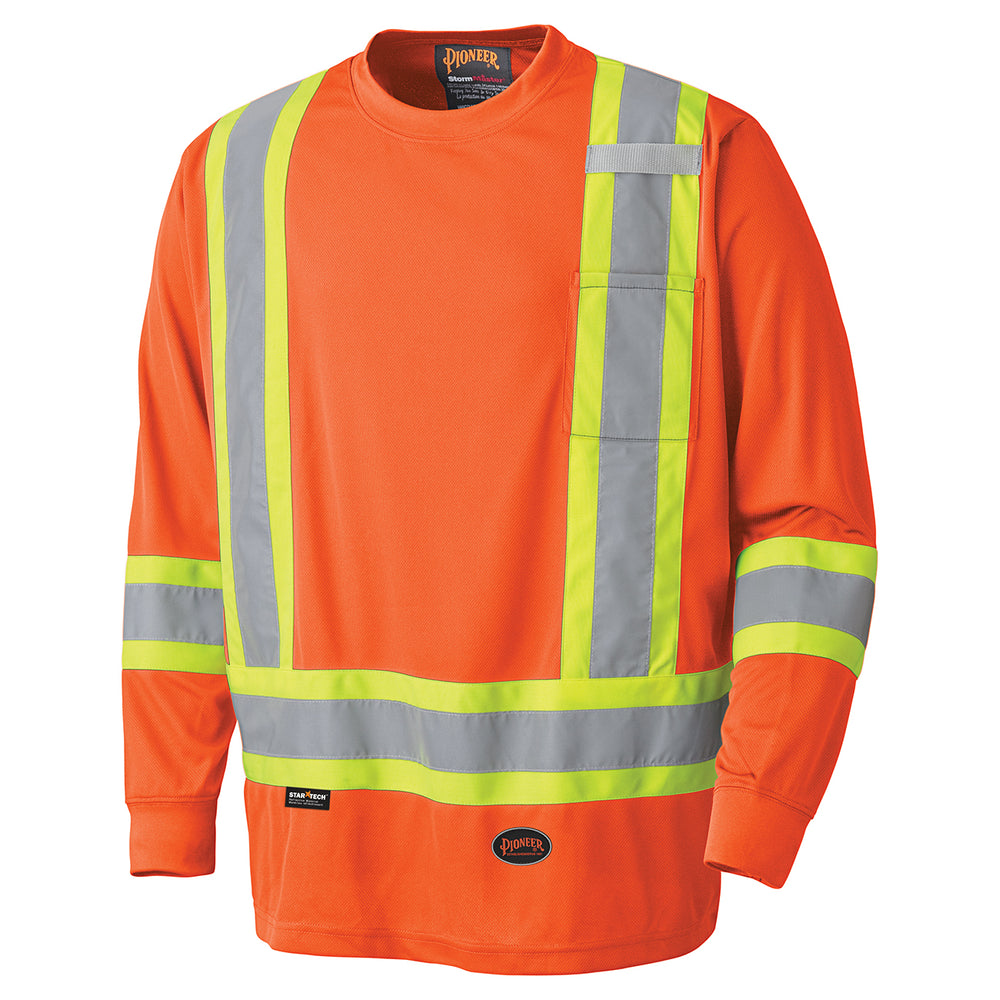 Shirts Long Sleeved Pioneer V1051250-S Birdseye Long-Sleeved Safety Shirt