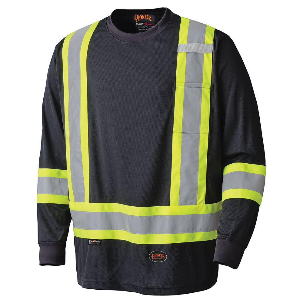 Shirts Long Sleeved Pioneer V1051270-M Birdseye Long-Sleeved Safety Shirt