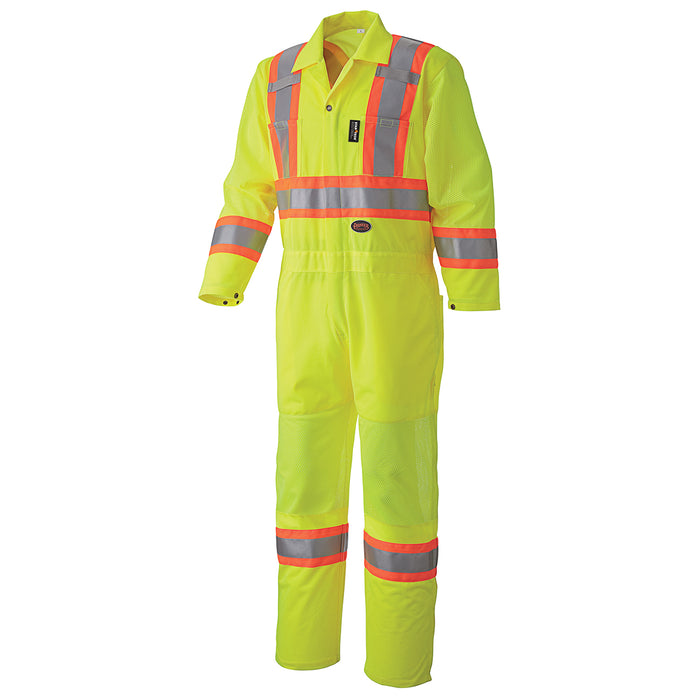Coveralls Pioneer V1070161-4XL Hi-Viz Traffic Safety Coverall